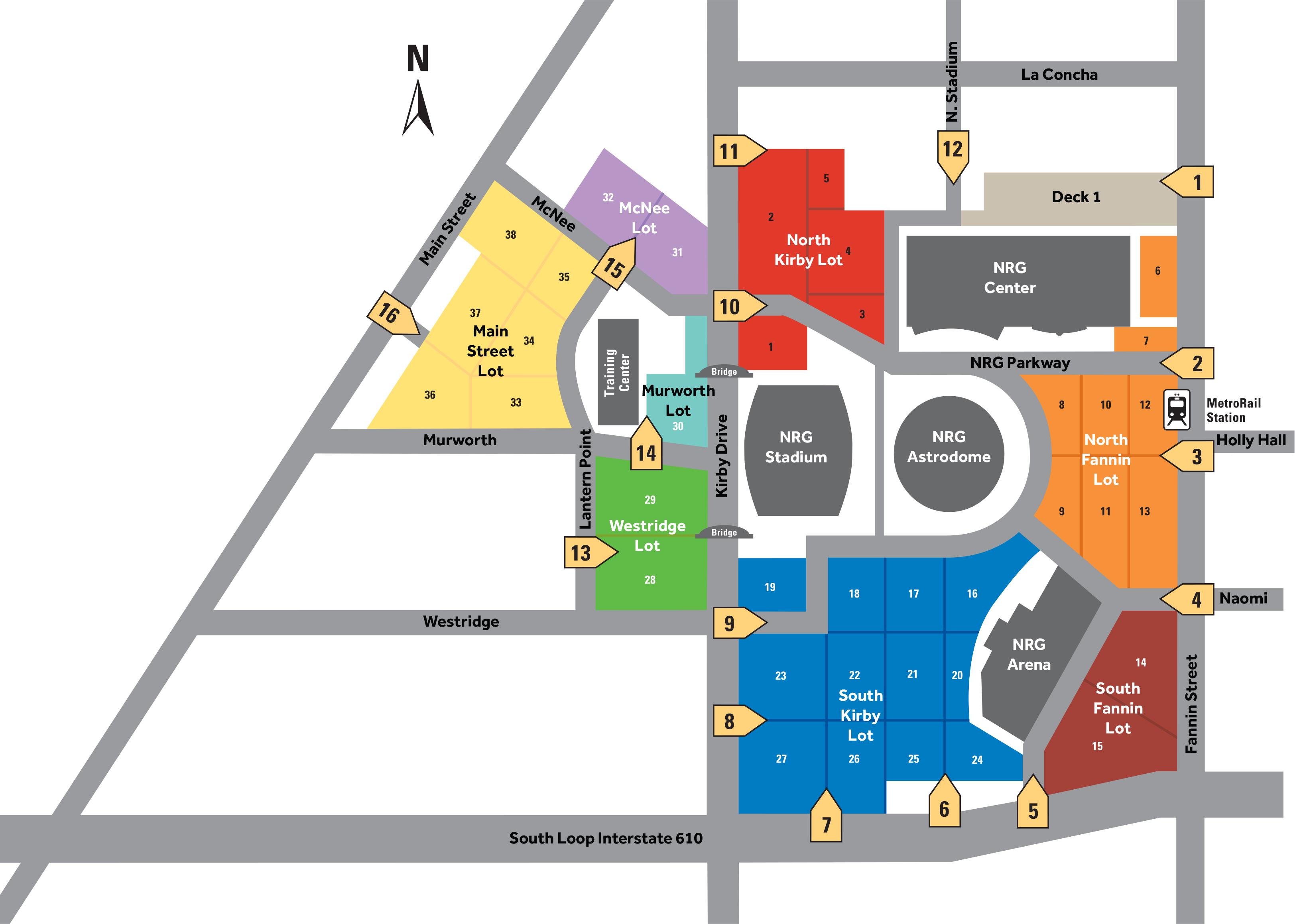 NRG Park Map