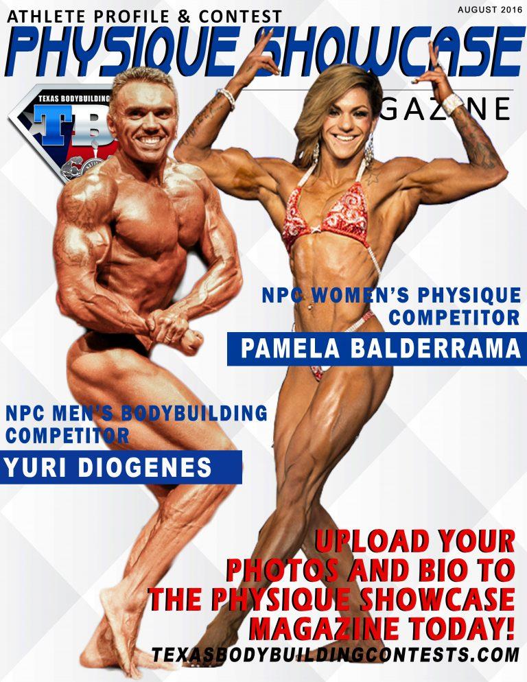 PHYSIQUE SHOWCASE- Magazine Cover- August